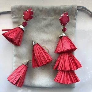 Kendra Scott Denise Earrings-Red Mother of Pearl